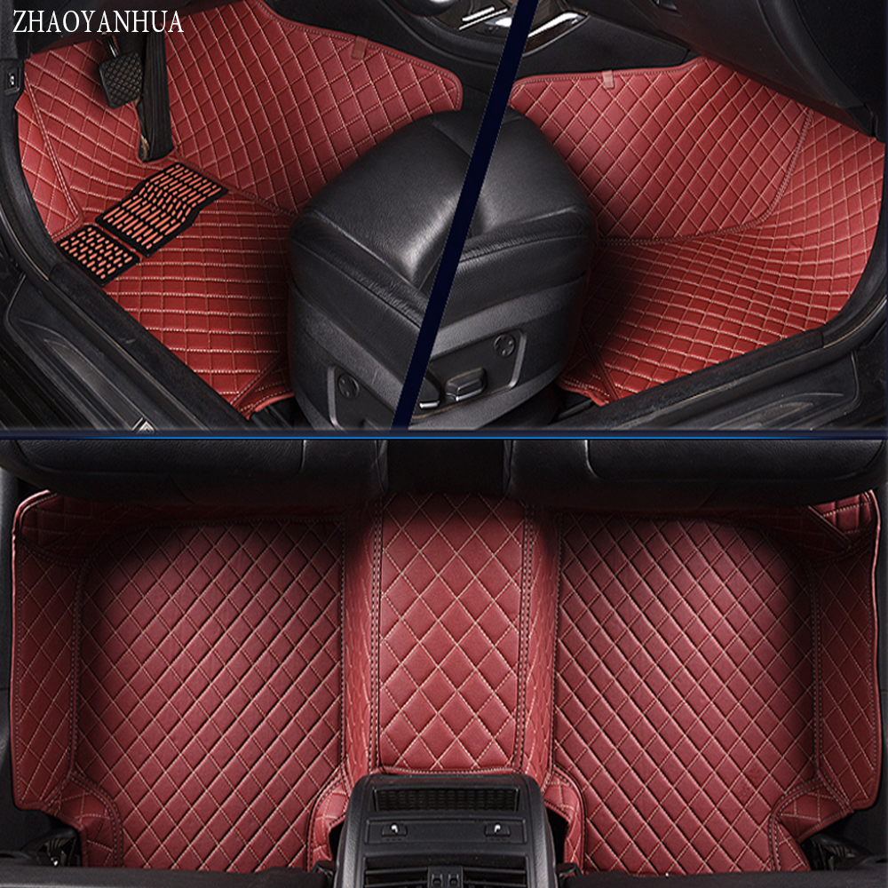 ZHAOYANHUA Car floor mats for BMW 3 series E46 E90 E91 E92 E93 F30 F31 F34 GT 5D car styling carpet floor liners (1999-present) car interior accessories leather floor mats carpets pad for bmw 3 series f30 2013 2014 2015 2016