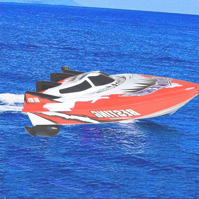 Barcos de control remoto barco del rc de alta velocidad eléctrica impermeable plástico toys modelo de barco de vela barco rc barco para chirldren