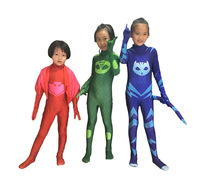 Ainclu Les Pyjamasques Fantasia Infantil Cosplay PJ Masks Hero For Kids Costume Birthday Party Dress Set