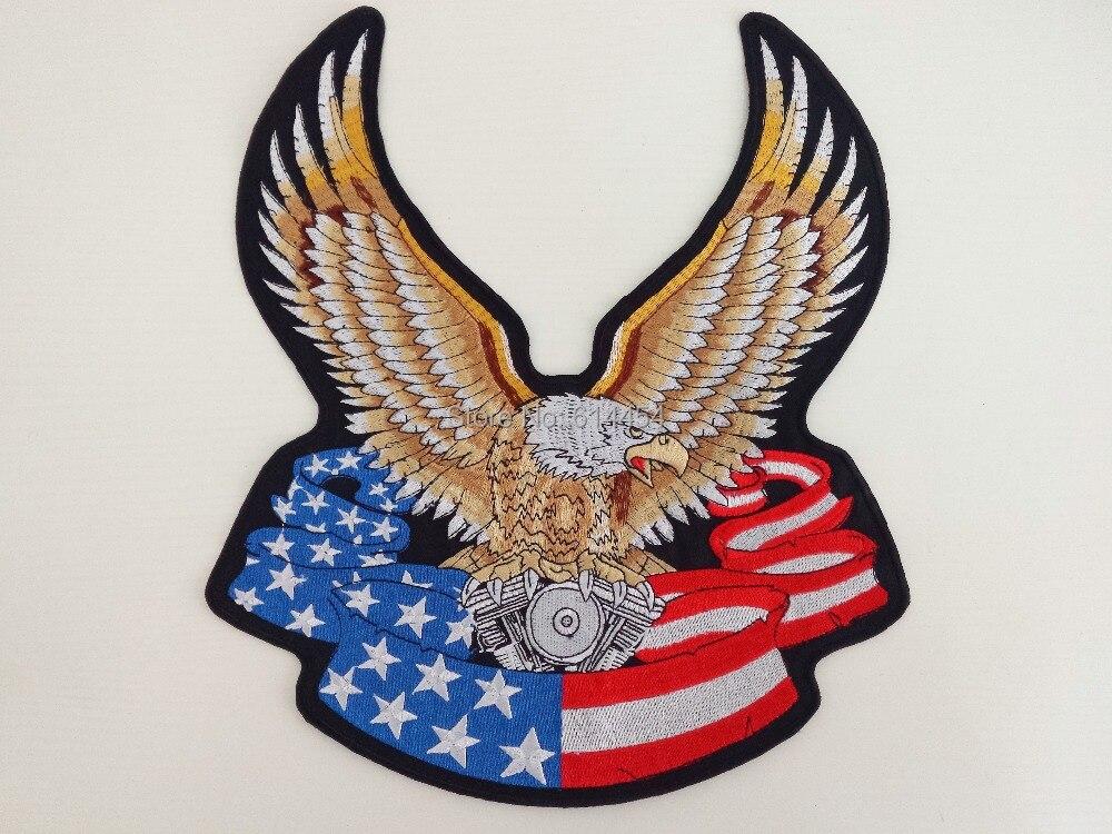Enorme bandera de los EE. UU. Eagle Heavy Engine Machine Grandes - Artes, artesanía y costura