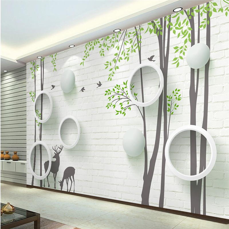 N beibehang personalizado foto papel pintado stick 3d for Papel pared moderno