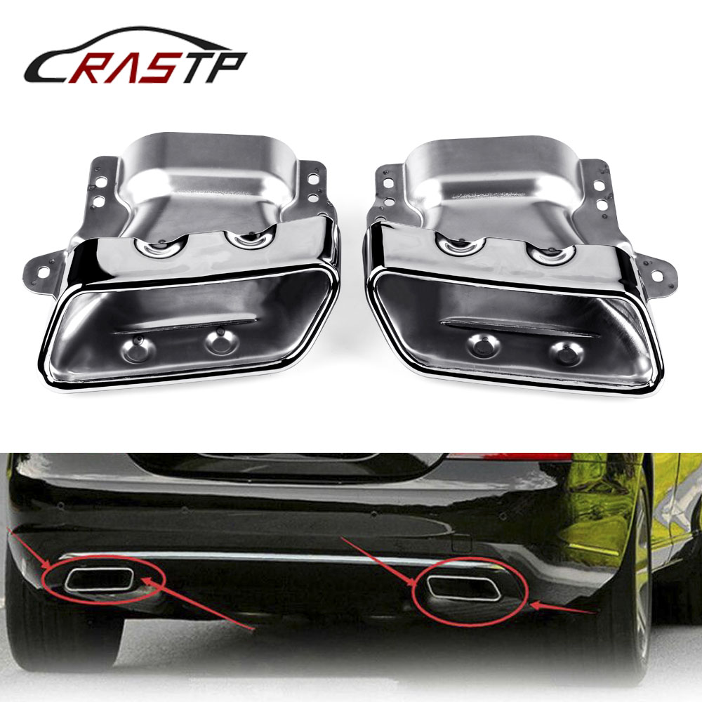 RASTP Exhaust Tip Muffler Pipe Modified Rear Tail Throat for Mercedes Benz 2013 2015 A45 W176 RS CR2003 in Mufflers from Automobiles Motorcycles