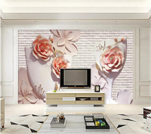 beibehang  Custom wallpaper papel de parede 3D flower embossed background wall decorative painting pintado pared tapety