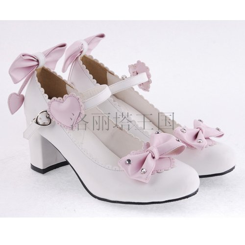 Princess sweet lolita shose Lolilloliyoyo antaina Spring and autumn shoes thick heel dress shoes 8227 ceruminous cosplay