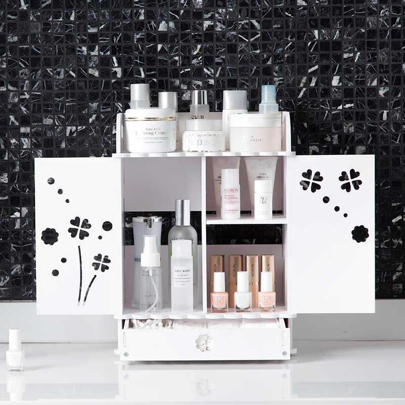 Drawer cosmetics shelves desktop skin care products storage box bathroom dressing table multi - store shelves