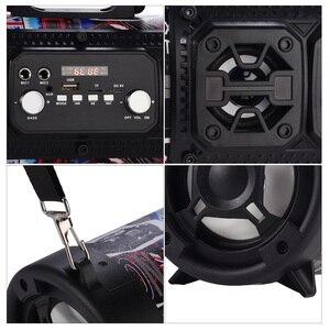 Image 4 - 16w coluna portátil alto falante bluetooth mover ktv 3d sistema de som barra de som subwoofer música sem fio alto falante fm rádio usb
