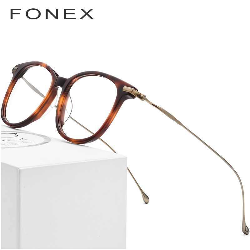 dcec318207 Puro titanio óptica gafas de marco de los hombres 2019 nueva moda Vintage  Plaza anteojos recetados