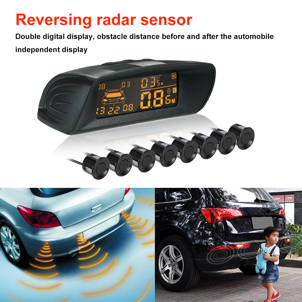 Car Rear View Radar Parking System Car Reversing Buzzer LED 6 Radar Sensor Reversing Radar Sensor