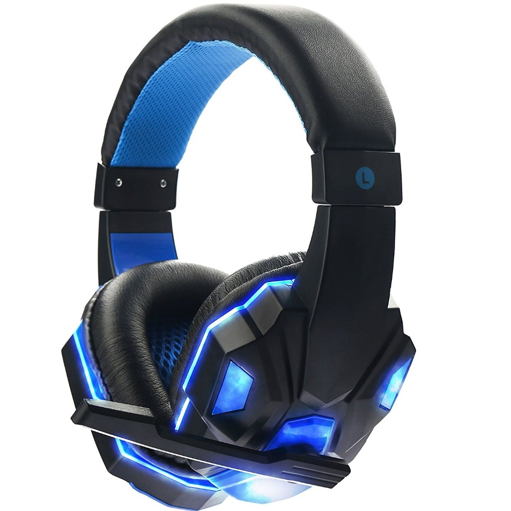 GDLYL Fresh Version Gaming Headset Wired Earphone Gamer Headphone With Microphone LED Noise Canceling Headphones for Computer