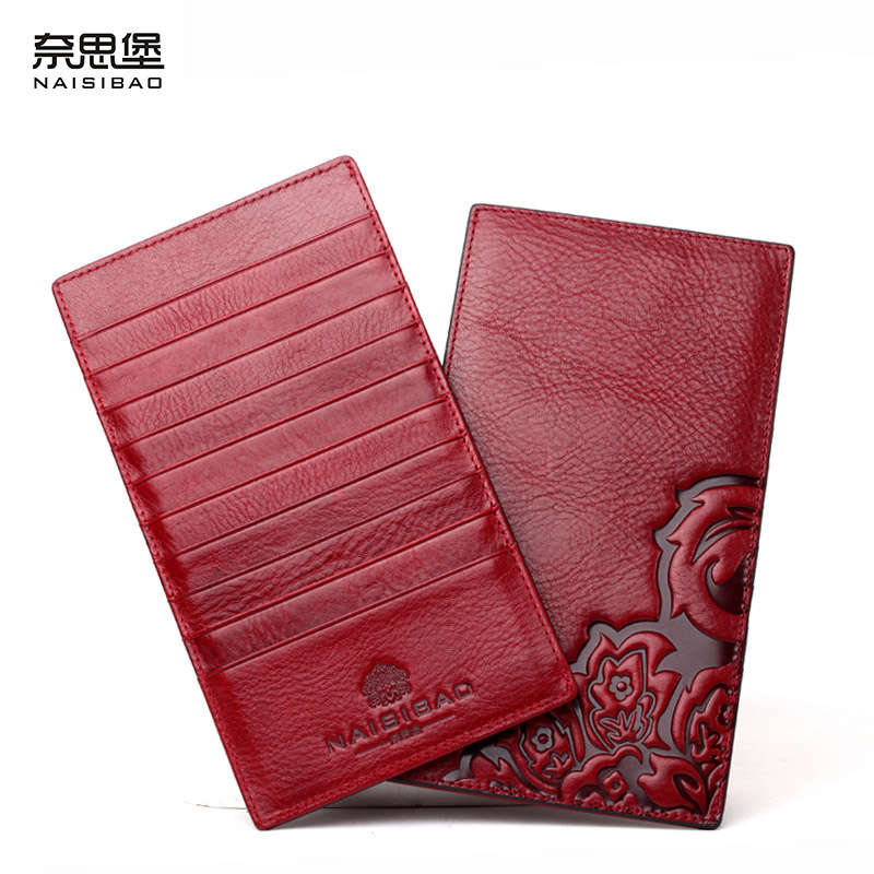 NAISIBAO luxury women wallet Chinese Style purse designer Card Holder genuine leather wallets ladies vintage purses naisibao 2017 luxury genuine leather women long wallet brand purse ladies clutch vintage designer printing wallets chinese style