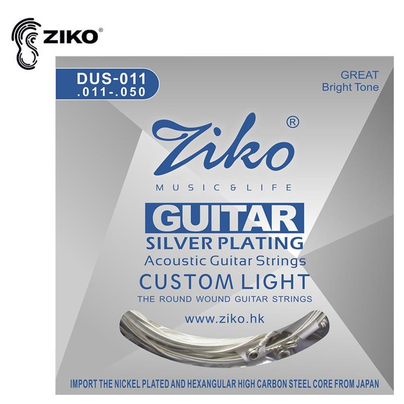 ZIKO DUS 011 011 050 Acoustic Guitar Strings Hexagon Carbon Steel Core Guitar Parts Wholesale Musical Instruments Accessories in Guitar Parts Accessories from Sports Entertainment