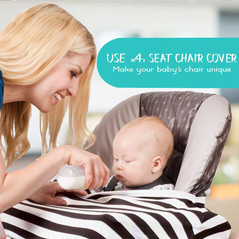 Incredible Us 8 8 New Infant Carseat Cover Baby Feed Shopping Cart Cover Muslin Cloth High Chair Covers For Babies Breastfeeding Nursing Cover In Nursing Ocoug Best Dining Table And Chair Ideas Images Ocougorg