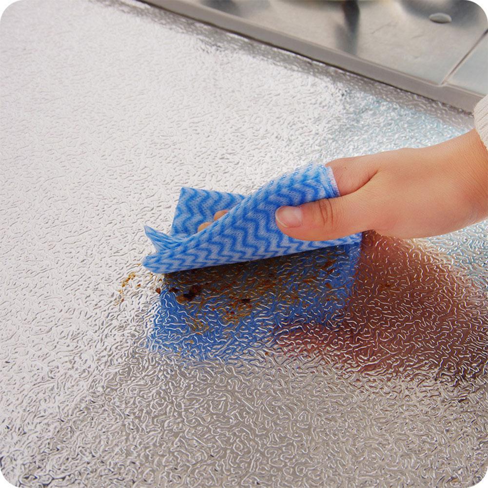 40x100 см кухонная маслостойкая Водонепроницаемая наклейка s алюминиевая фольга для кухни печного шкафа самоклеящаяся настенная наклейка DIY обои