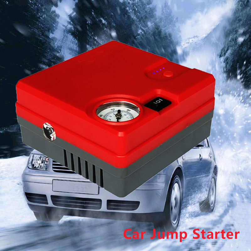 High Capacity Jump Starter 12V Car Starter Battery Emergency Diesel Petrol Starting Device Booster Power Bank inflatable pump цена