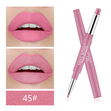 Miss Rose Brand 12 Colors Long-lasting Lip Liner Matte Lip Pencil Waterproof Moisturizing Lipsticks Makeup Contour Cosmetics(China)