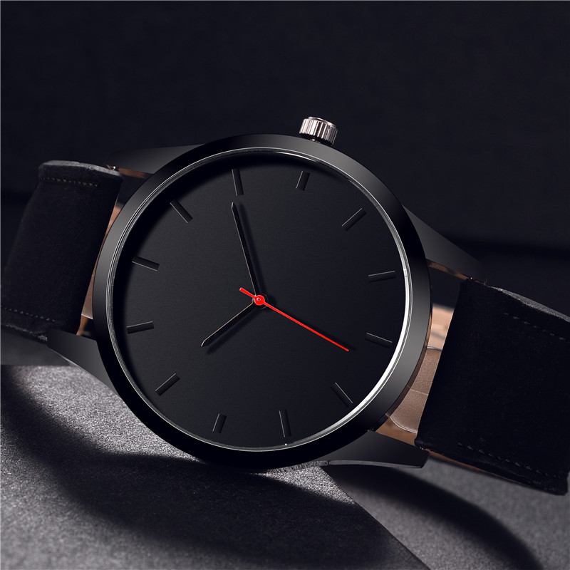 Reloj 2018 Fashion Large Dial Military Quartz Men Watch Leather Sport watches High Quality Clock Wristwatch Relogio Masculino T1