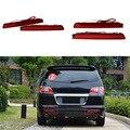 Carro 2x LEVOU Choques Refletor Traseiro Lâmpada Luz Da Cauda Para A Toyota Innova/Alphard 2015 Freio De Estacionamento Nevoeiro Parada Vermelho luzes