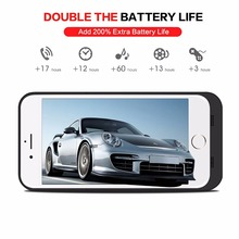 Portable 8 Battery Case Ultra Slim External Battery Charger Case 4 Led Back Up Power Case for Apple iPhone 7 7 Plus 8 8 Plus