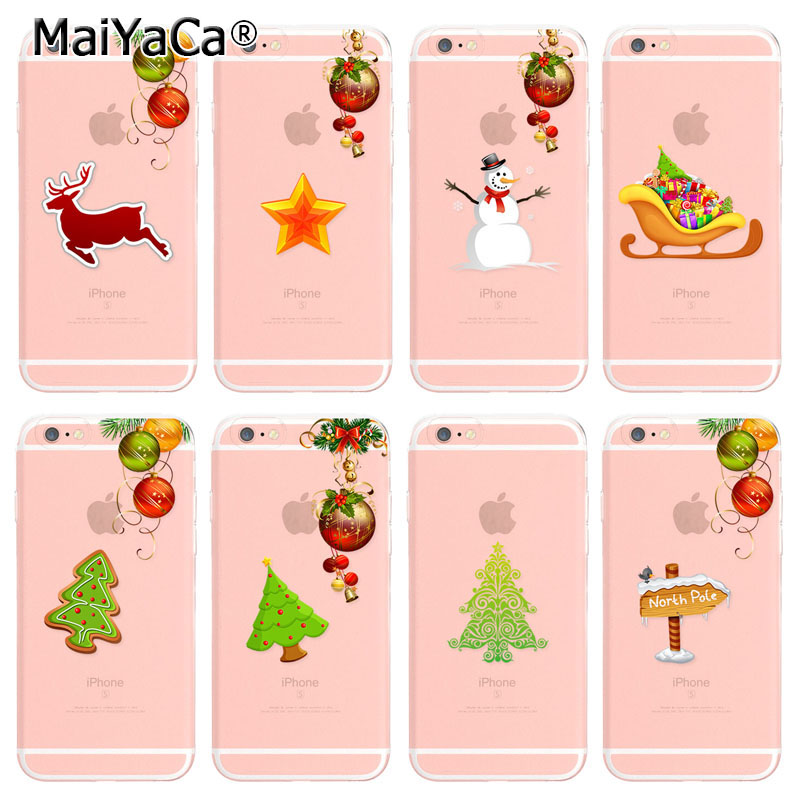 Laumans On Sale! Luxury Cool Christmas Tree Gift Snowman phone Case For iPhone 6s plus 6plus Case