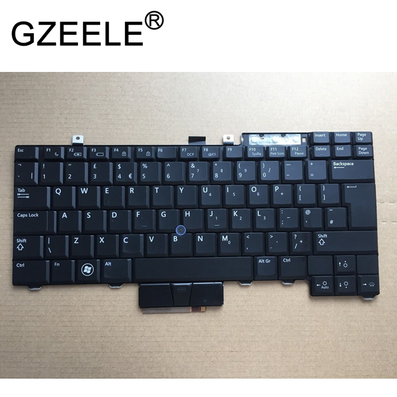 GZEELE Qwerty Keyboard UK FOR DELL Latitude E6400 E6500 E5400 E5500 E6410 E6510 for Precision M2400 M4400 PK130AF2B12 BLACK gzeele qwerty keyboard uk for dell latitude e6400 e6500 e5400 e5500 e6410 e6510 for precision m2400 m4400 pk130af2b12 black