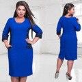 2017 Women Fashion Elegant Plus Size Lace Dress Winter Autumn big size dress patchwork pocket party dress vintage vestidos 6XL