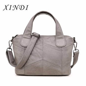 XINDI 2018 Fashion Big Tote Genuine Leather Handbag Bolsa Feminina Luxury Handbags Women Bags a Main Bolsos Shoulder Bag