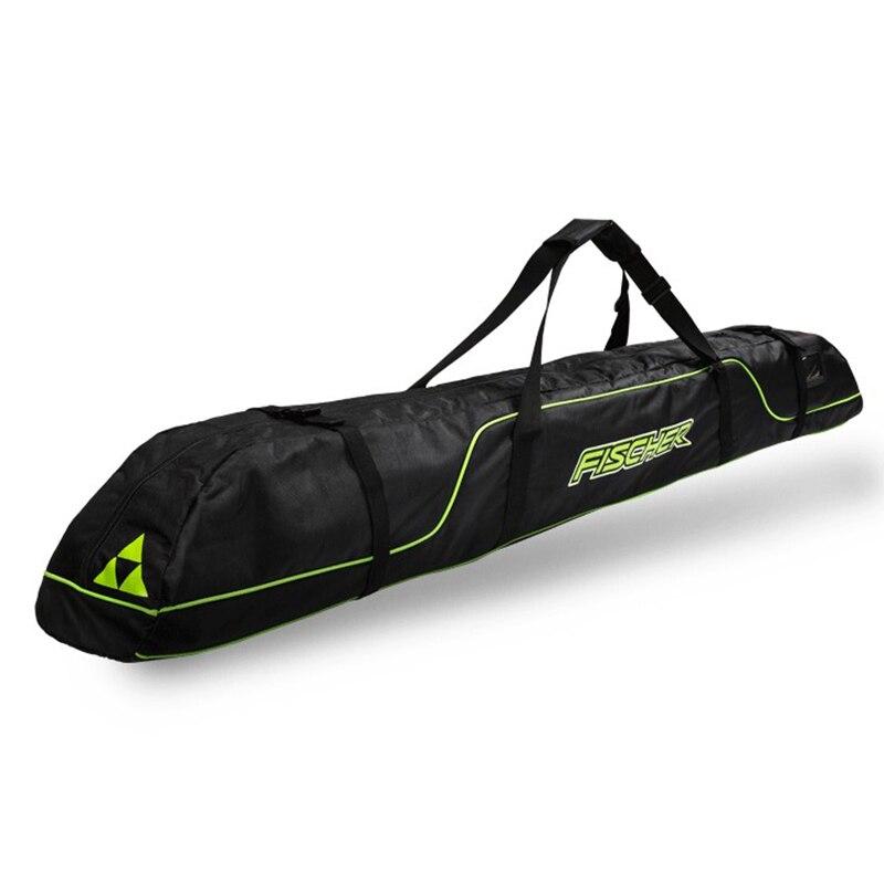 Pack de bâtons de Ski bottes de neige casque Portable porter épaule sac à main pour Double Snowboard imperméable Oxford housse 165 cm 175 cm - 2