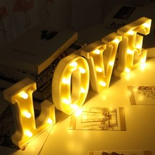 1pc White Christmas Letter LED Night Light Marquee Sign Alphabet Lights Lamp Home Club Outdoor Indoor Wall Wedding Decoration P new wedding event decoration gifts white wooden letter led marquee sign alphabet light indoor wall light up night light