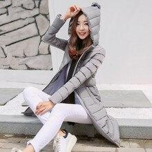 2016 осень и зима новый хлопок пуховик женский Корейский случайные большой размер пальто куртки длинный абзац дикий прилив