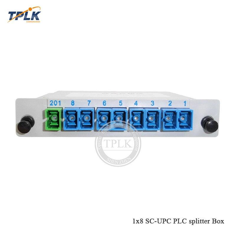 Single mode Fiber Optical PLC Splitter SC//UPC 1*4 1x4 1 to 4 Module