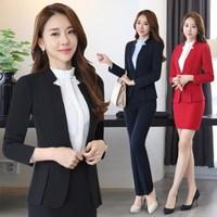 Плюс размер 4XL 5XL Блейзер Офисная женская униформа комплект из 2 предметов деловая профессиональная одежда женский офисный деловой костюм с