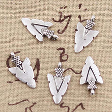 50pcs Charms indian arrowhead dagger 19x10mm Antique Silver Pendant DIY Necklace Crafts Making Findings Handmade Tibetan Jewelry(China)