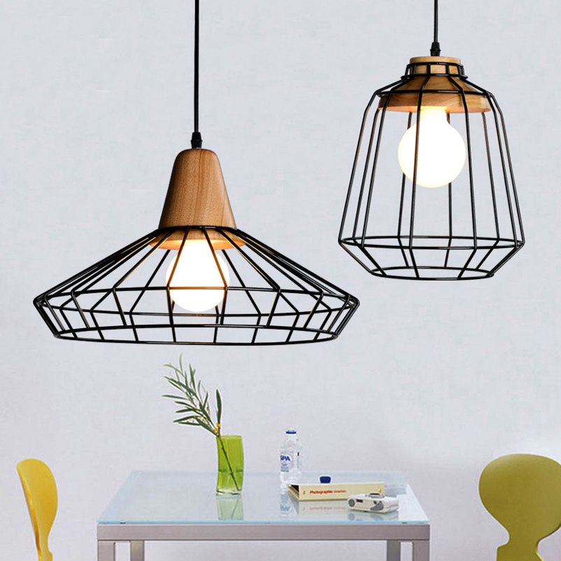 Loft restaurant dining room bar bedroom living room aisle cafe pendant lamp retro art wood iron cage pendant light hanging light loft retro tree glaze glass pendant lamp lights cafe bar art children s bedroom balcony hall shop aisle droplight decoration