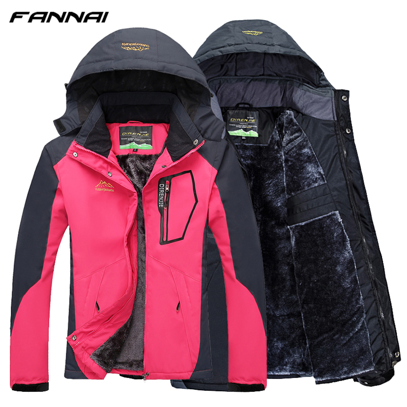цена Winter Hiking Jacket Women/Men Camping Softshell Heated Hiking Windbreaker Outdoor Trekking Climbing Coat Waterproof Jackets