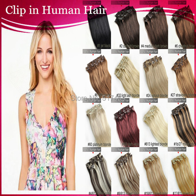 24inch Clip In Hair Extension Straight 110g 8pcs Per Set Clip In