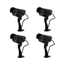 4 упак. имитация безопасности наблюдения Поддельные манекен ИК-светодио дный камеры s-Night/Day Vision Look пуля CCD CCTV имитация манекен камеры