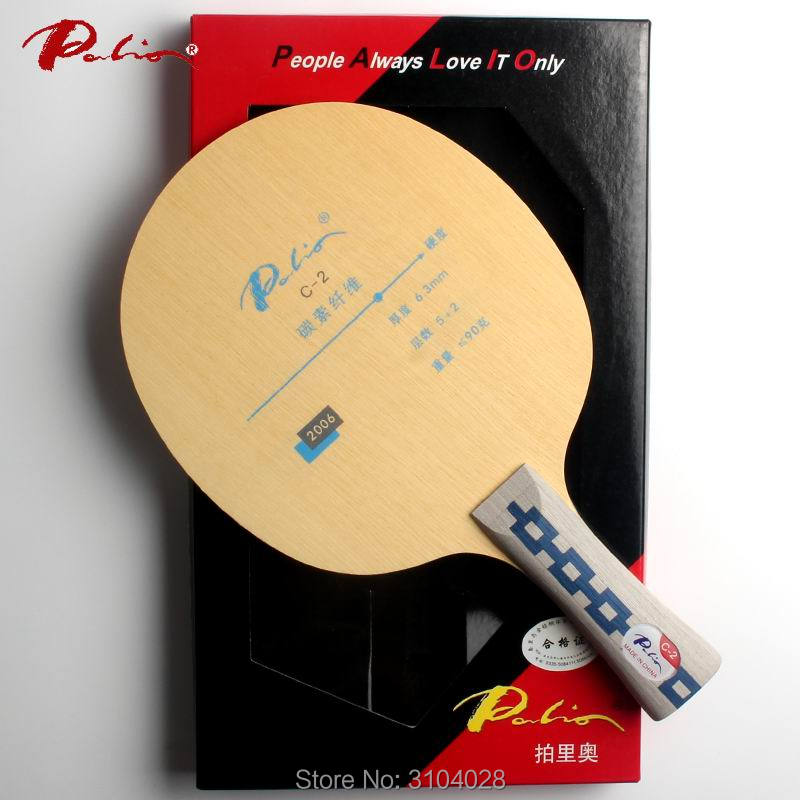 Palio official C-2 table tennis blade high elastic good in speed and control table tennis racket game ping pong game palio official calm 01 calm 1 table tennis blade 5wood 2carbon blade fast attack with loop ping pong game