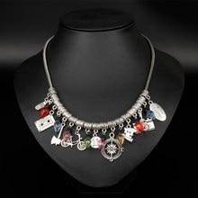 504ffb61a2d5 Mqchun moda mujeres joyería más extraña gargantilla collar con cadena de la  serpiente Cintas arma luces