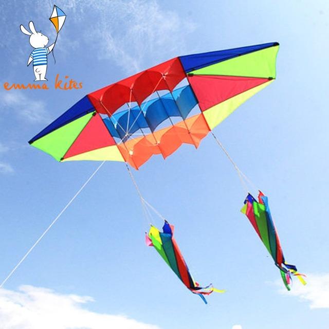 Radares 3d Kite Línea Única de Kite 2.45 M Energía Del Truco Grande Playa Colas de Cometa Con Tornillo Regalo de Los Cabritos Al Aire Libre juguete