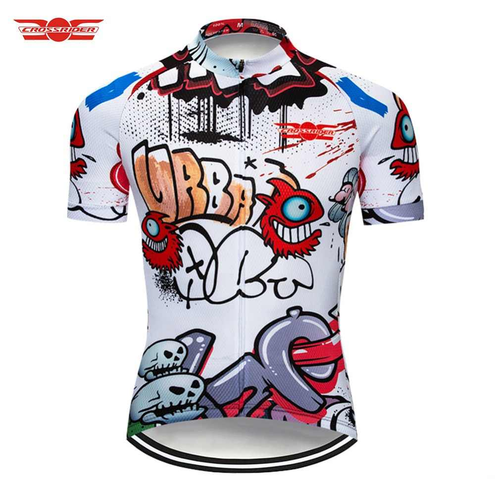 bf089bd1b Crossrider 2018 Cycling Jersey Breathable Mtb Bike Clothing Bicycle Wear  Mens Short Maillot Roupa Ropa De