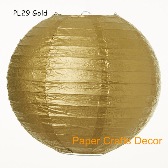 Aliexpress.com : Buy 16inch=40cm 8pcs/lot Gold Large Round Chinese ...