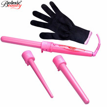 Pro Series Hair Care Curling Wand Parts Clip 09-32mm Iron Hair Curler Set Hair Styling 5 in 1 Curling Wand Set