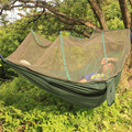 Camping Hammock Mosquito Net Hammock Hiking Hanging Bed Portable High Strength Parachute Fabric travel bed for Outdoor Travel