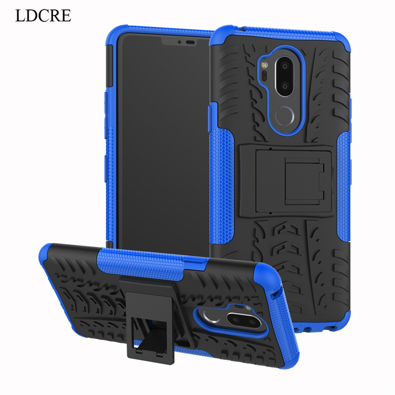 For LG G7 Case Heavy Duty Hard Rubber Silicone Phone Case Cover For LG G7 2018 Case for LG G7 ThinQ Coque Phone Bag case LDCRE