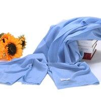 100 Cashmere Scarf Women Sky Blue Wrap Plain Gray Silver High Quality Natural Fabric Extra Soft
