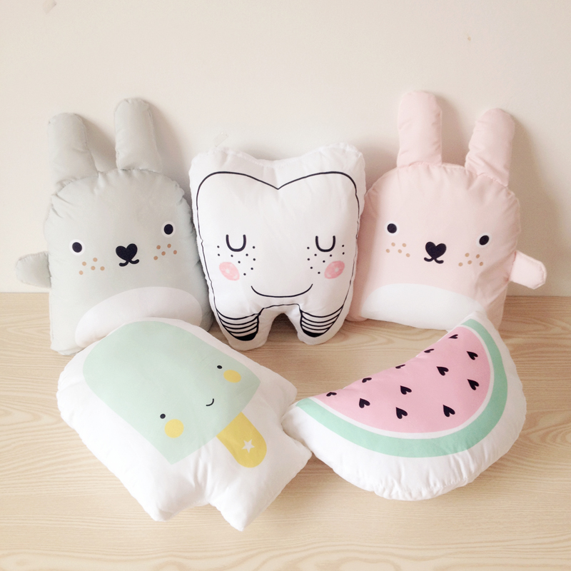 Baby Catoon Pillow Kids Cute Educational Cushion Cotton Baby Room Decor Child Stuffed Soft Newborn Bed Doll Children Gifts 1pcs