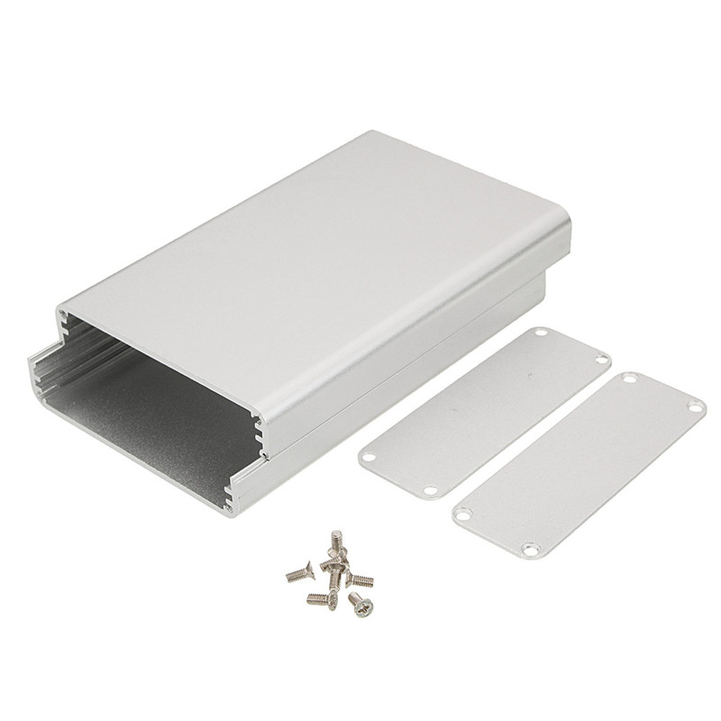 DIY Aluminum instrument Connectors Box Enclosure Case Project Electronic 26*71*110MM Silver Connectors 1 piece 35 65 75mm anodizing electronic aluminum case extrusion enclosure switch box aluminum housing diy distribution box