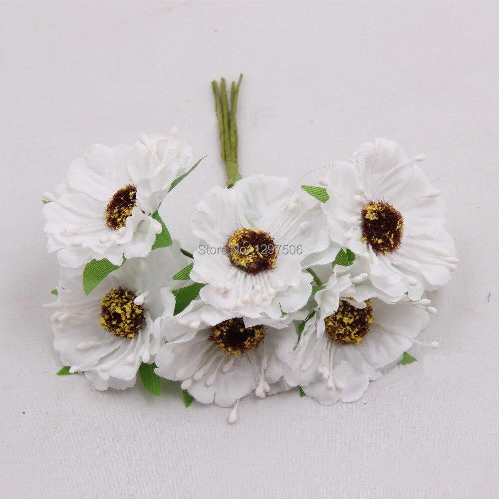Argent 10mm 200pcs Feuilles de Rose en Soie Artificielle pour Bouquets de Mariage