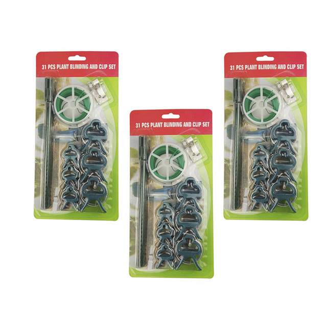 31pcs/set plant clips Tomato Clips for plants Trellis Flower Vegetable Binding and Clip Set  Binder Binding Wire Plant Clip