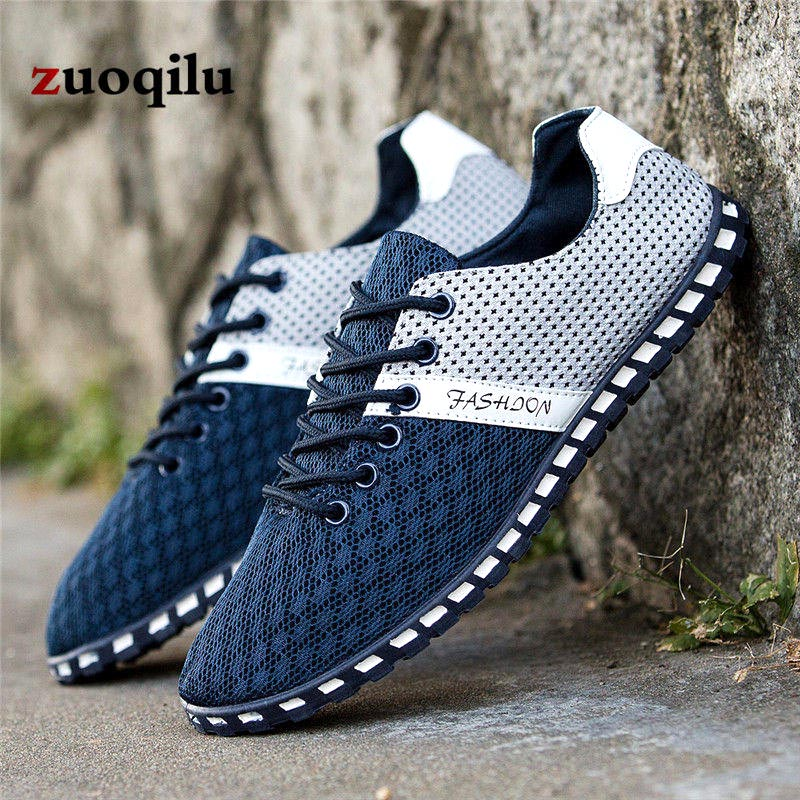 Hommes En blue Appartements Air Chaussures Lumière Casual Mâle Sneakers dark Tailles Light Maille 39 Gray Grandes 46 Plein black Gray Respirant 6gyYbmfI7v